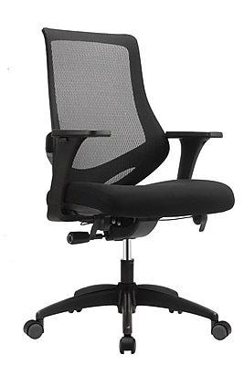 Eurotech Astra Leather Computer and Desk Office Chair, Adjustable Arms, Black (MF2000-BLK)