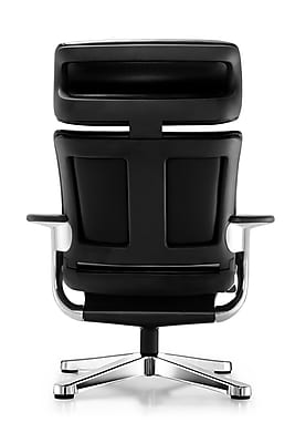 Eurotech Nuvem Fabric Executive Office Chair, Fixed Arms, Black (NUVEM-BLK)
