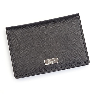 Royce Leather RFID Blocking ID Card Case Wallet, Genuine Leather, Black (RFID-421-BLK-2)