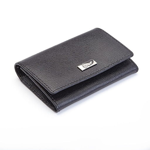 low priced 827f7 cefe8 Royce Leather RFID Blocking Genuine Leather Business Card Case, Black  (RFID-423-BLK-2)