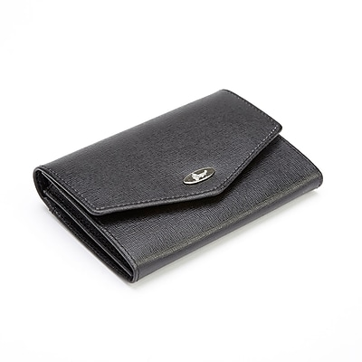 Royce Leather Black Leather RFID Blocking French Purse Wallet (RFID-167-BLK-2) (1960668) photo