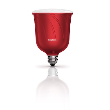Sengled Pulse Dimmable LED Light with Wireless Bluetooth Satellite (Only) Speaker (Single), Powered by JBL, Candy Apple