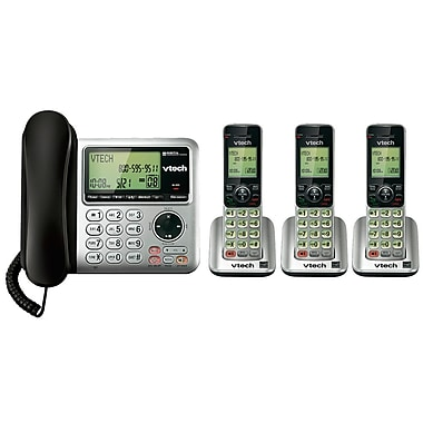 Vtech CS6649-3 3-Handset Cordless/Corded with Digital Answering System