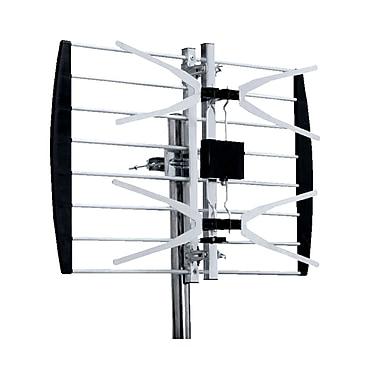 Digiwave – Antenne TV numérique extérieure avec panneau UHF, 16 x 21 x 3 po, argenté
