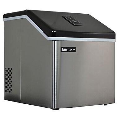 Luma Comfort – Machine à glaçons portative en acier inoxydable IM200SS, translucide