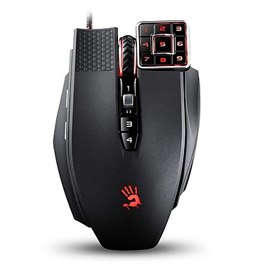 A4 Tech Bloody ML16A Commander Laser Gaming Mouse with Exclusive Numeric Style Keypad for Pro MMO Players