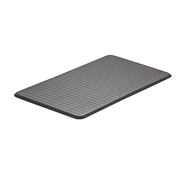Imprint Cumulus —Tapis antifatigue, 20 x 36 x 5/8 po, de la collection Chevron, gris acier