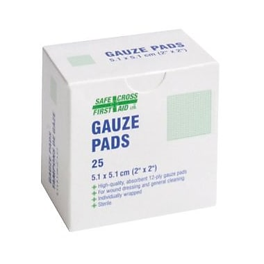 Crownhill Gauze Pads, 5.1 x 5.1cm, Sterile, 25/Pack