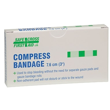 Crownhill Compress Bandage, 7.6 x 7.6cm (3