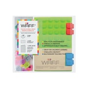"WAFF Book Medium Notebook and Cubes Combo, 4"" x 5-3/4"", Green, 190 Pages"