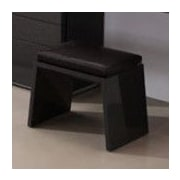 At Home USA Athens Accent Stool; Gray High Gloss