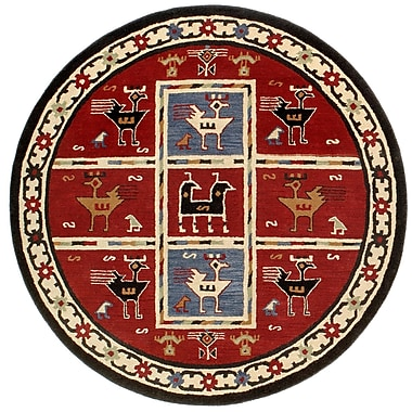St. Croix Traditions Tribal Burgundy Rug; Round 6'