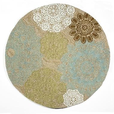 Liora Manne Ravella Crochet Aqua Indoor/Outdoor Rug; 5' x 7'6''