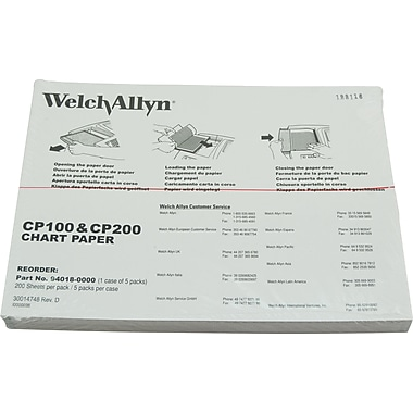 Welch-Allyn Cp 100™ and Cp 200™ Ecg Paper