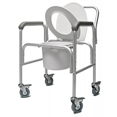 Graham Field 3-In-1 Aluminum Commode with Backrest