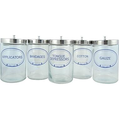 Graham Field Glass Sundry Jar, Labeled, 5/Pack