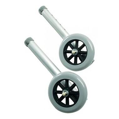 Graham Field —Roulettes à freinage automatique pour cadres de marche, 5 po, paq./2