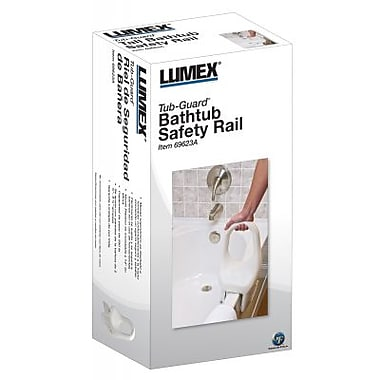 Graham Field – Rampe de sécurité pour baignoire, capacité de 250 lb, blanc, 12 po
