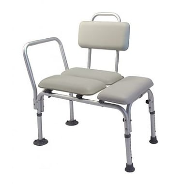 Graham Field Transfer Bench, Padded with Back 300Lb Capacity