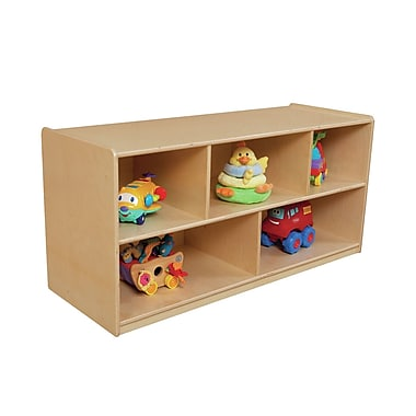 Wood Designs Extra Deep Single 5 Compartment Shelving Unit w/ Casters