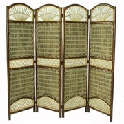 D-Art Collection 69'' x 59'' Seagrass 4 Panel Room Divider