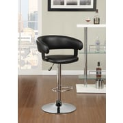 Wildon Home   Adjustable Height Swivel Bar Stool; Black