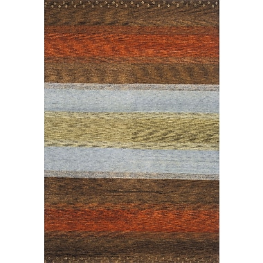 Momeni Desert Gabbeh Hand-Knotted Brown/Orange/Gold Area Rug; 8' x 11'