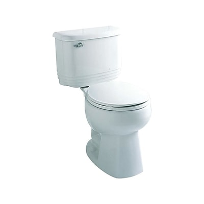 Sterling by Kohler Riverton 1.6 GPF Round Front 2 Piece Toilet; Biscuit