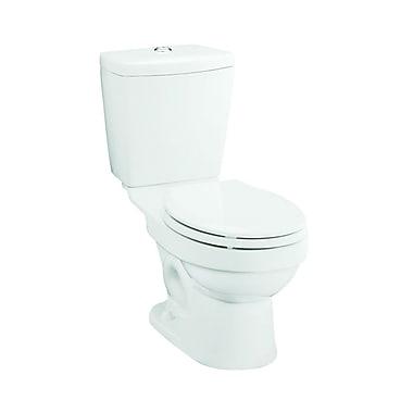 Sterling by Kohler Karsten Front Dual Flush Round 2 Piece Toilet; White