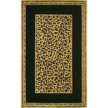 American Home Rug Co. African Safari Gold/Black Cheetah Print Area Rug; Runner 2'6'' x 6'