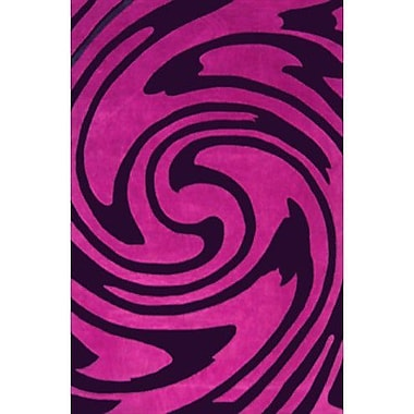 American Home Rug Co. Modern Living Jazzy Purple/Black Rug; 8' x 11'