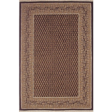 American Home Rug Co. American Home Classic Mir Black/Gold Area Rug; Runner 2'6'' x 6'