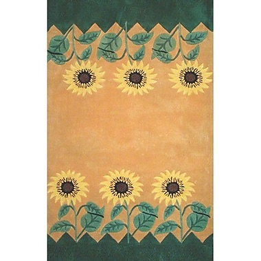 American Home Rug Co. Bright Sunflower Area Rug; Rectangle 8' x 11'