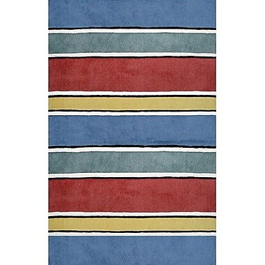 American Home Rug Co. Beach Rug Gem Multi Ocean Stripes Rug; Runner 2'6'' x 10'