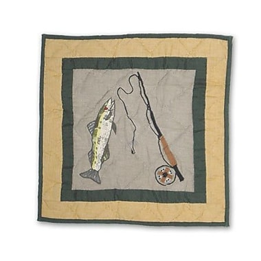 Patch Magic Lodge Fever Fishing Cotton Throw Pillow