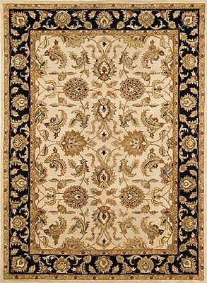 Continental Rug Company Meadow Breeze Ivory/Black Rug; Runner 2'6'' x 8'