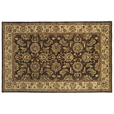 Continental Rug Company Meadow Breeze Dark Brown Rug; Rectangle 5' x 8'