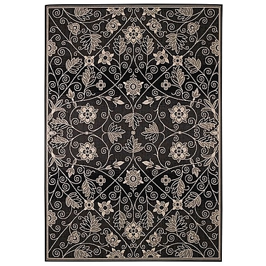 Capel Elsinore Garden Maze Ebony Indoor/Outdoor Area Rug; 3'11'' x 5'6''