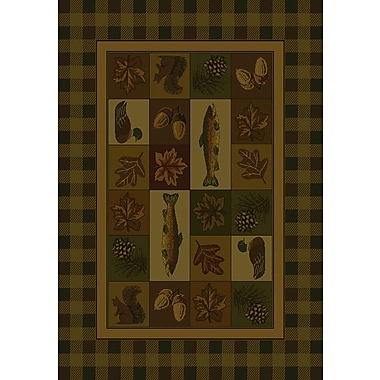 United Weavers of America Genesis Brown Timberland Area Rug; Rectangle 5'3'' x 7'6''