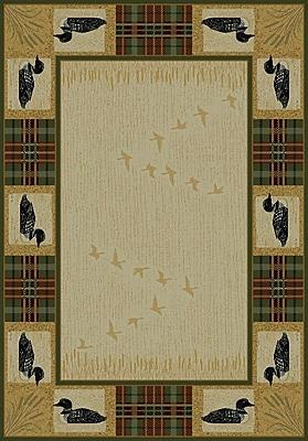 United Weavers of America Genesis Beige Tartan Loon Area Rug; 3'11'' x 5'3''