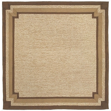 Liora Manne Ravella Natural Border Outdoor Rug; Runner 2' x 8'