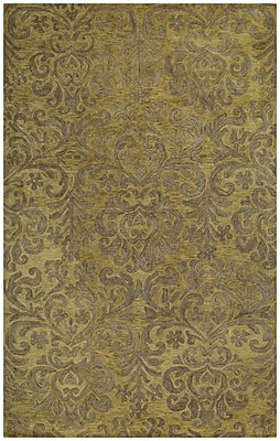 Capel Lace Green Area Rug; Rectangle 5' x 8'