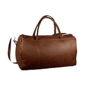 David King 19'' Leather Carry-On Duffel; Caf  / Dark Brown