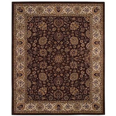 Capel Forest Park Medallions Dark Coffee Area Rug; Rectangle 2' x 3'
