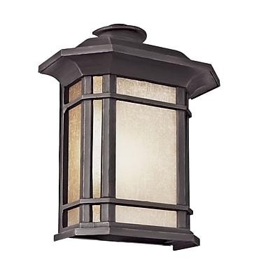 TransGlobe Lighting Corner Windows 2-Light Outdoor Flush Mount; Black WYF078275800543