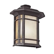TransGlobe Lighting Corner Windows 2-Light Outdoor Flush Mount; Black