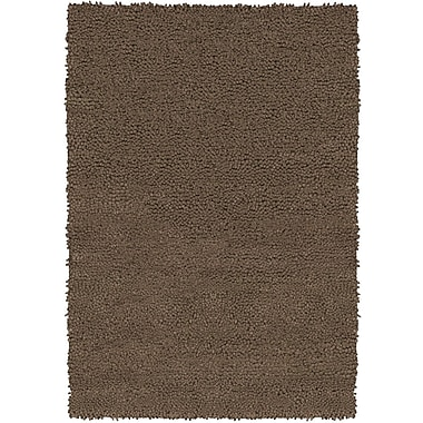 Chandra Strata Brown Area Rug; Rectangle 2' x 3'