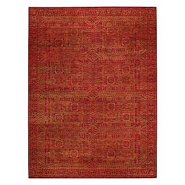 Capel Tonal Trace Red Area Rug; 9'6'' x 13'6''