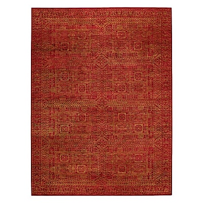 Capel Tonal Trace Red Area Rug; 9'6'' x 13'6''
