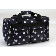 Rockland 19'' Carry-On Duffel; Black Dot